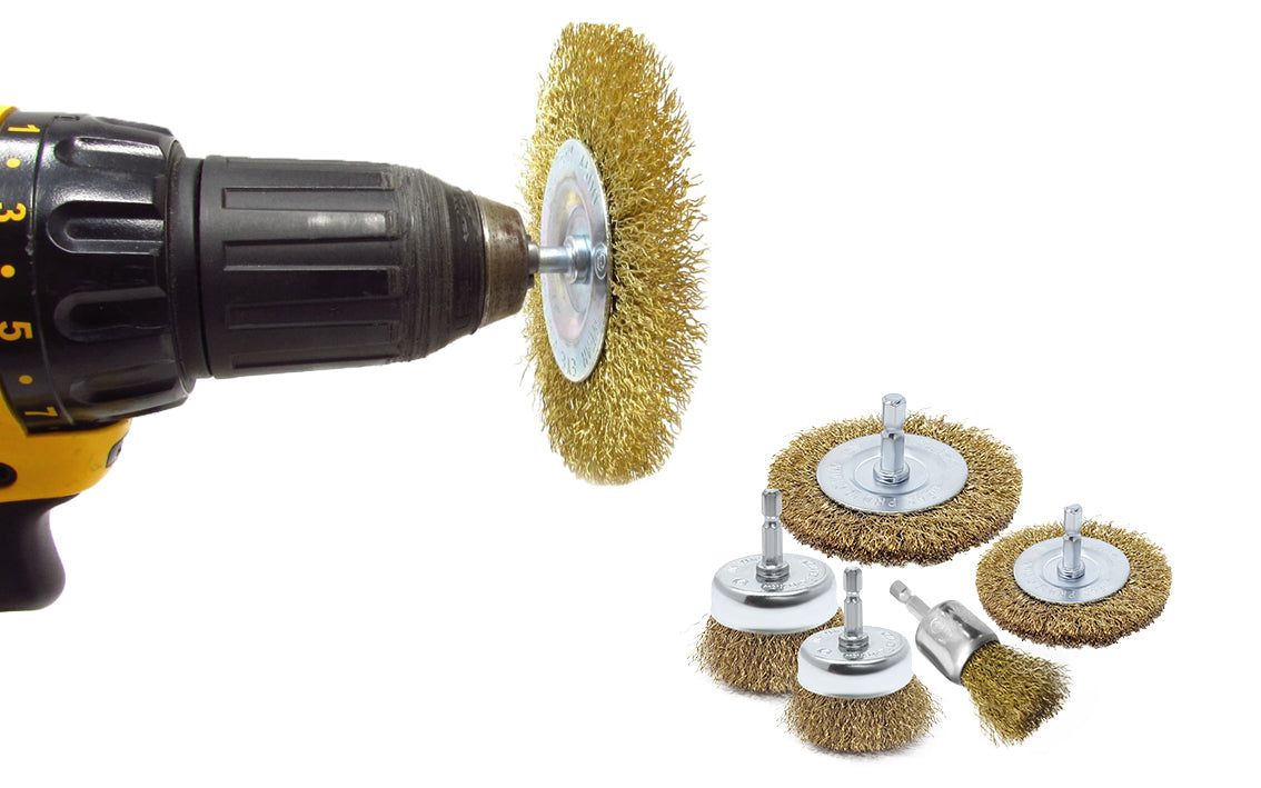 Wire brush for drills