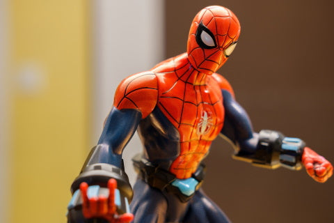 action figure modding with dremels spiderman