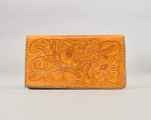 70's Tooled Leather Billfold/Wallet