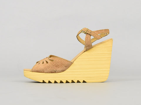70's Wavy Platform Wedges (US 7)