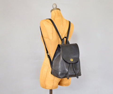 COACH Large Leather Backpack