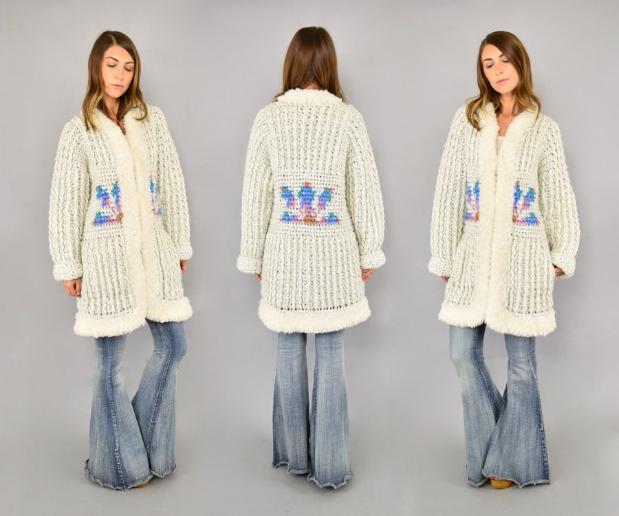 80's Prickly Pear Knit Cardigan