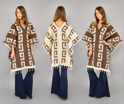 Reversible Blanket Poncho