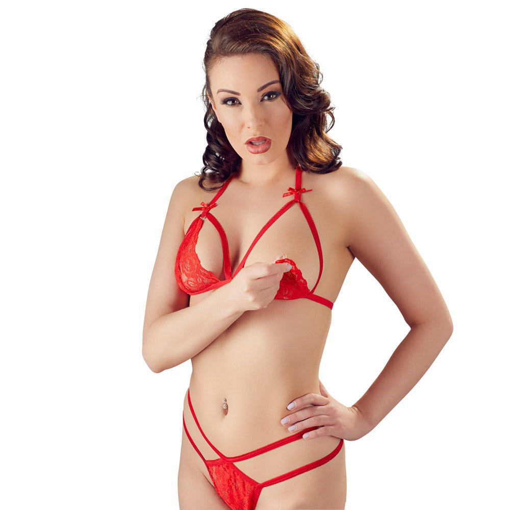 Cottelli Lace Set Red