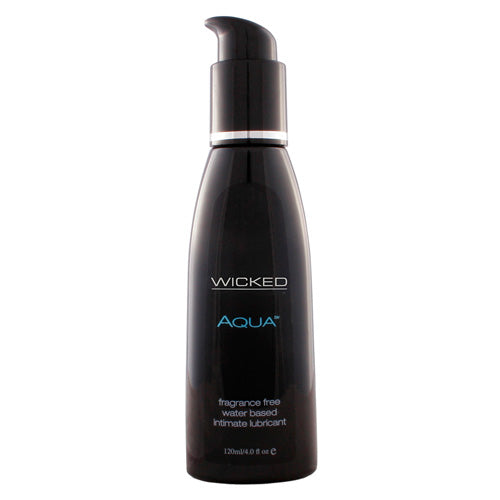 Wicked Aqua Fragrance Free Water Based Lube 120ml