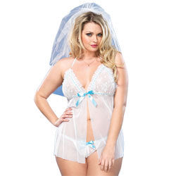 Leg Avenue Mesh Babydoll And GString UK 18 to 22