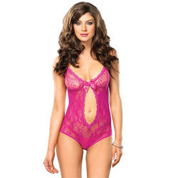 Leg Avenue Keyhole Cut Out Teddy UK 8 to 14