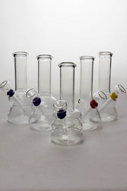 6 in. clear glass water bong - One wholesale Canada
