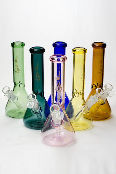 "10"" Genie color tube glass water bong"