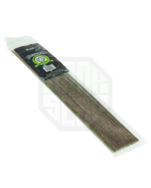 "12 incense sticks with ""kush"" fragrance"