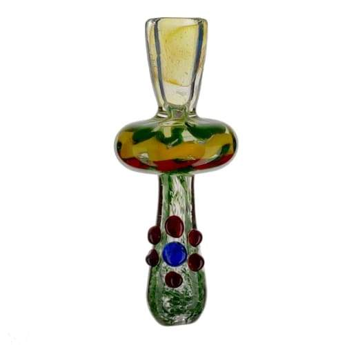 Fumed Glass Rasta Chillum On sale