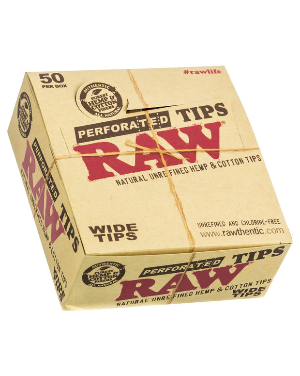 RAW Wide Rolling Paper Tips