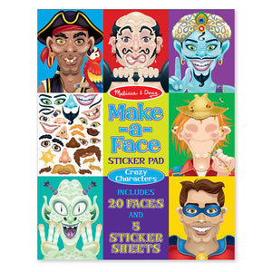 Sticker Pad - Make-a-Face Crazy Characters