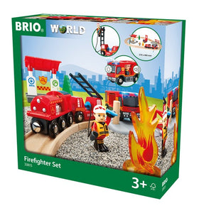 Brio Train Set - Firefighter