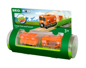 Brio Train - Cargo Train & Tunnel