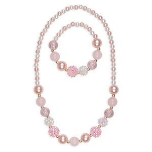 Necklace & Bracelet - Pinky Pearl