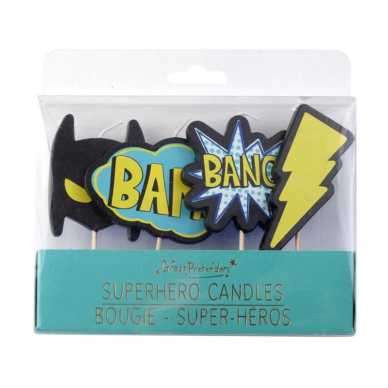 Candles - Super Heros 4pc