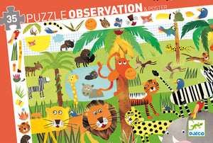 DJeco - Observation Puzzle 35 Jungle