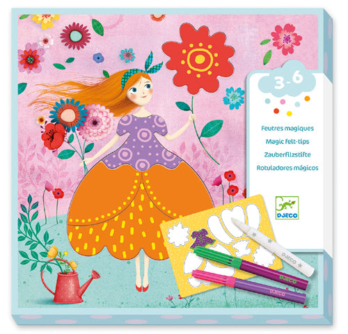 Djeco - Magic Felt Tips Marie's Pretty Dresses
