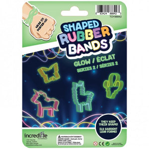 Shaped Rubber Bands - Glow in the Dark