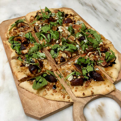 Fig Gorgonzola and Arugula Flatbread is the perfect appetizer