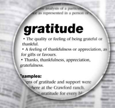 Being grateful and having happiness is intrinsically connected in our daily lives