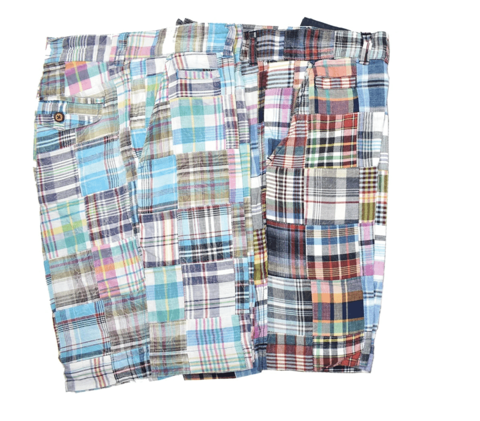 Washed Madras Short - HipSilver