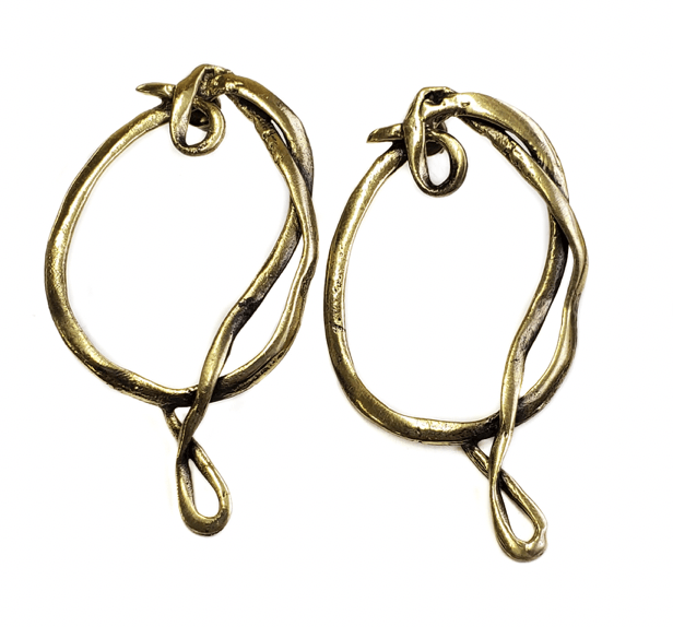 Lariat Inspired Faux Closure Earrings - HipSilver