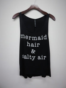 Mermaid Hair & Salty Air tee in Black