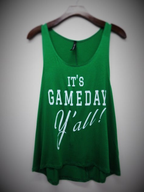 It's GAMEDAY Y'all! tank- Green
