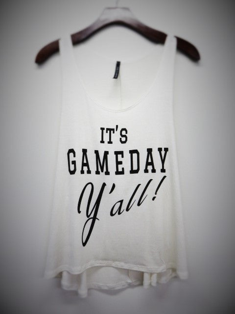 It's GAMEDAY Y'all! tank- Ivory