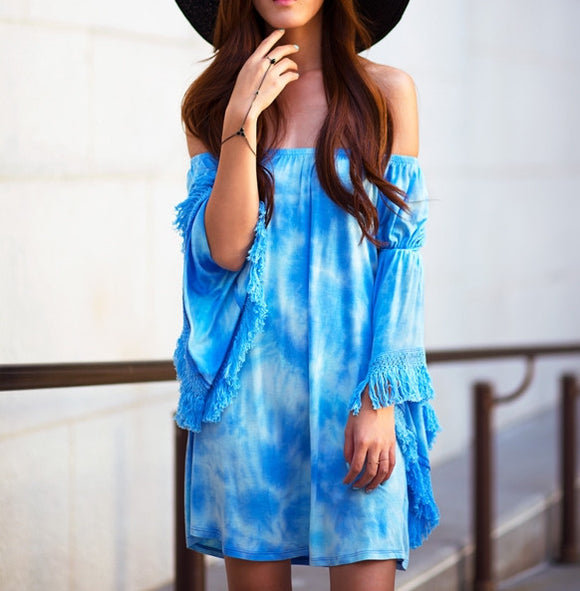 Dip dye fringe dress
