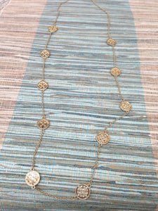Touch of gold necklace