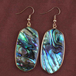 Abalone Mermaid Earrings