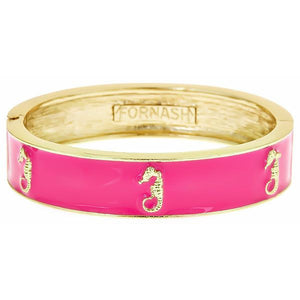 Fornash hot pink seahorse bangle