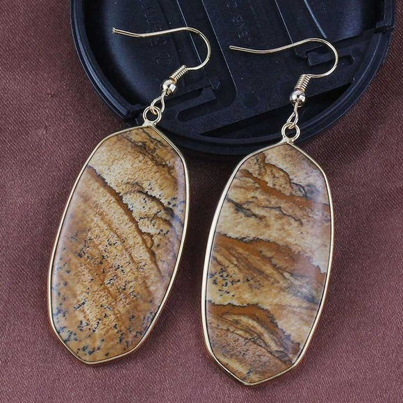 Brown Jasper Earrings