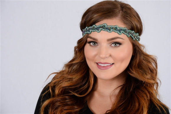 Pink Pewter- Charlotte Headband in Teal