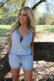 Damsel in Denim Romper