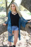 Desert Lace Duster in Teal