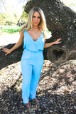 Blue Havana Nights Jumpsuit