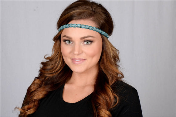 Pink Pewter- Ginny Headband (Turquoise)