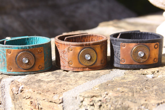 Buffalo Girls - Winchester Bullet Leather Cuff