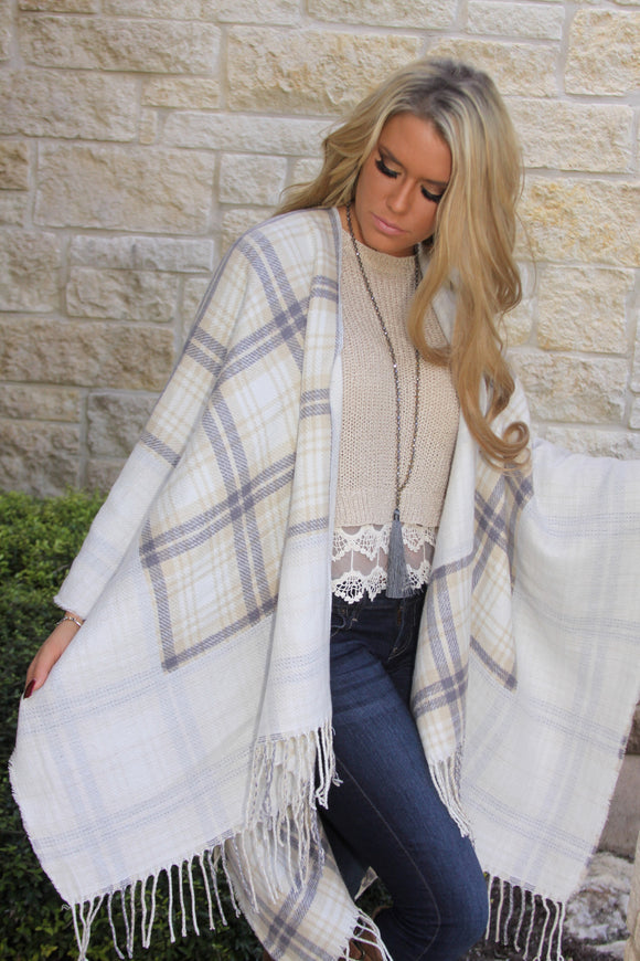 Toasted Marshmallow Poncho