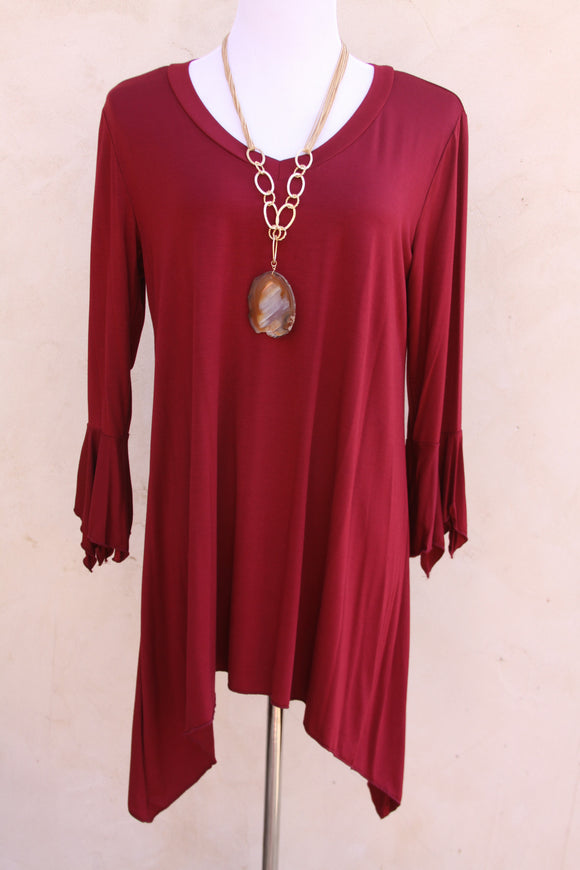 Cranberry bliss top-Size 1X to 3X