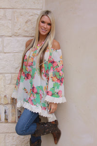 Picking flowers tunic by 2tee Couture