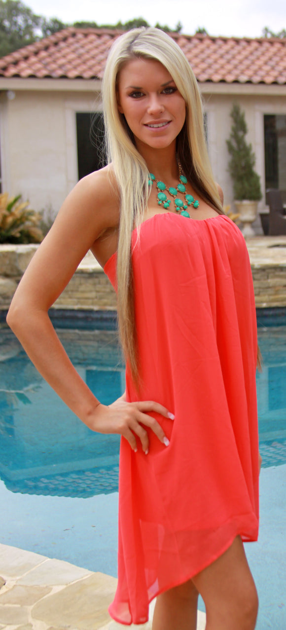 Spike the Punch dress in coral
