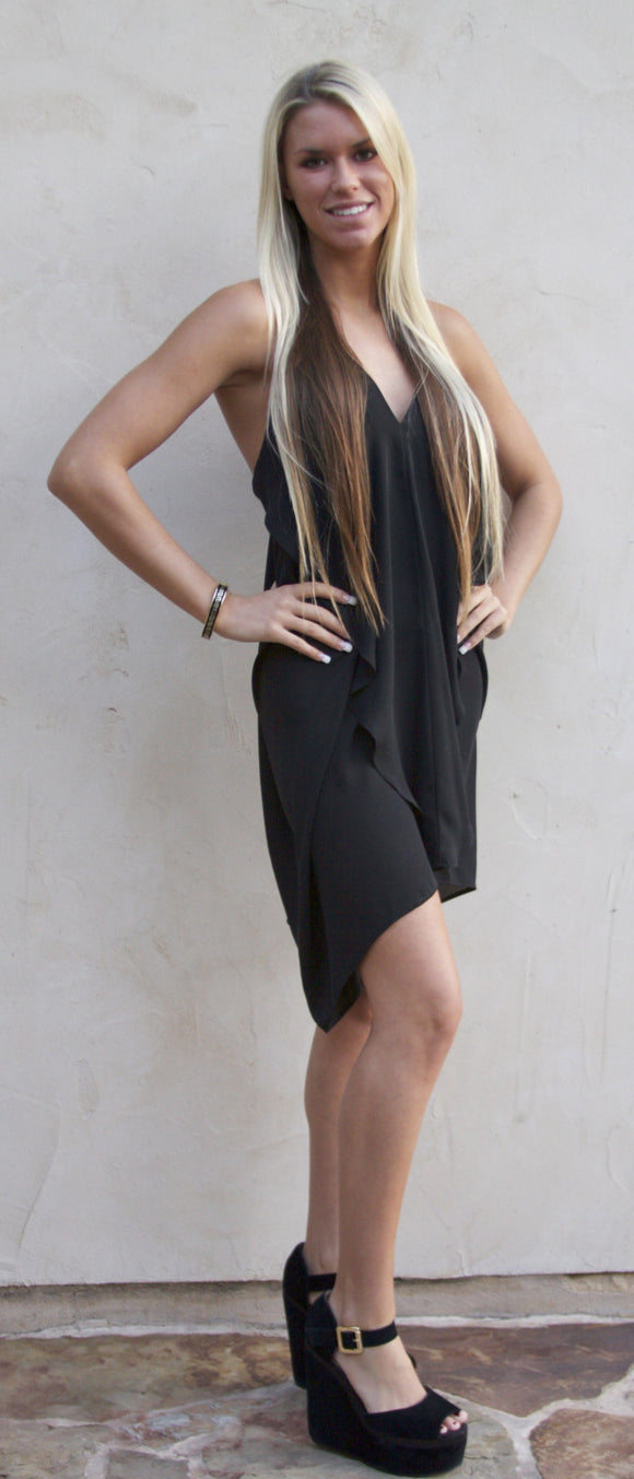 The Audrey dress in black