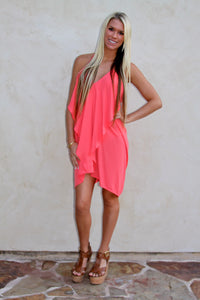 The Audrey dress in coral