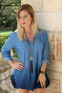 Denim Ombre tunic