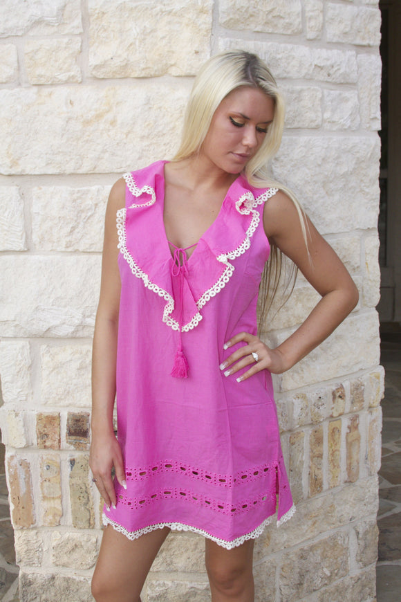 Shrimp cocktail coverup dress